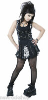New Dead Threads Ladies Dress  Black Red White Metal Punk Emo Rock