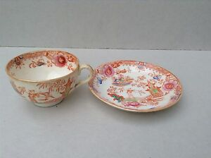 Antique Chinese Porcelain Tea Cup And Saucer