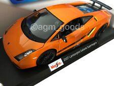 Maisto 1:18 Scale - Lamborghini Gallardo - Orange - Diecast Model Car