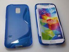Samsung Galaxy S5 mini Schutztasche Hülle Blau Schutzhülle Tasche Silikon