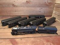 Lionel 6-8610 Wabash #672 4-6-1 Locomotive With Tender & 6Passenger Cars O Gauge