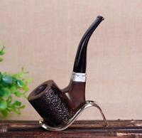 Ebony Wood Biegung Rauchen Tabakpfeife Pipe Tabak cut Tobacco Pipes Filter
