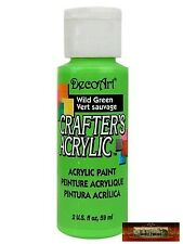 M01483 MOREZMORE DecoArt WILD GREEN Crafter's Acrylic All Purpose Paint IZB