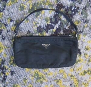 Y2K VINTAGE PRADA MV633 Tessuto Black Nylon Mini Bag Pochette THE OG RE EDITION