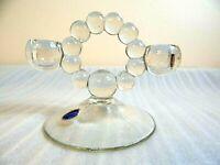 Vintage Imperial Elegant Candlewick Crystal Glass Candelabra Candle Holder Stick