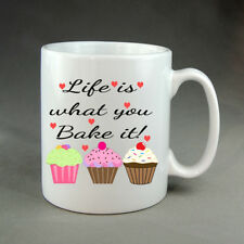 Life Is What You Bake Valentines It Love Mug Gift Present Birthday Christmas