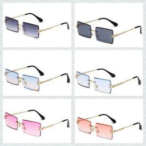Sonnenbrille Randlos Rechteckig Unisex Style Fashion 2021 modischer Trend