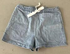 Vale Drawstring Denim Shorts, Size 8