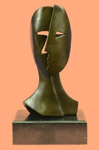Picasso Male with Faces Cubism Design Outfit Bronze Sculpture Statue Figure Sale