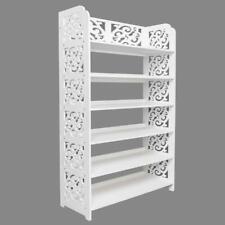 6 Tier Carved Storage Organizer Standing Shoe Rack Shelf Cabinet