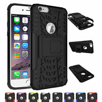 Dual Layer Heavy Duty Armor Shockproof Kickstand Case Cover for iPhone 6 6S Plus
