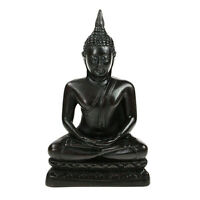 Meditating Black Thai Buddha 16cm Statue Ornament NEW