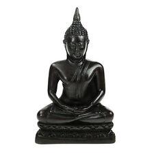 Meditating Black Thai Buddha 16cm Statue Ornament