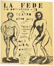 Faust La Fede via portuense 78 Di C Marlowe Teatro Alfred Jarry di Napoli 1969