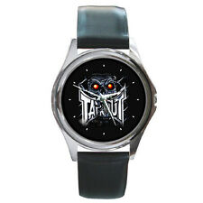 TAPOUT MMA UFC WATCH FIT FOR YOUR HOODIE HAT & T SHIRT Black Leather Band Watch