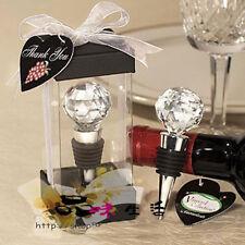 Crystal Diamond Red Wine Bottle Stopper Wedding Favors Elegance