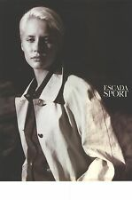 PUBLICITE ADVERTISING  1997  ESCADA SPORT haute couture manteau trench