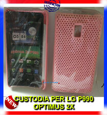 Pellicola+custodia cover case MESH ROSA per LG P990 Optimus 2X