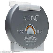 Keune Care Line Absolute Volume Shampoo  250ml / 8.5oz FREE SHIPPING WORLDWIDE