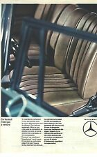 PUBLICITE ADVERTISING  1960  MECEDEZ-BENZ  cabriolet 220 SE fauteuil