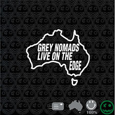 Grey Nomads Live On The Edge Sticker 160mm Wide Decal Caravan Van JAYCO Diamond