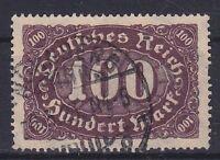 DR Mi Nr. 247 I, PF Plattenfehler, gest., Zifer Infla 1922, used