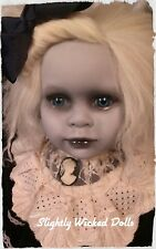Gabby, by Slightly Wicked Dolls, OOAK Creepy Horror Halloween Dolls