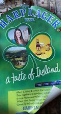 Vintage Harp Lager Beer (Guinness Co.) Poster St Patricks Day 1960s?