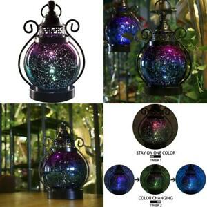 Hanging Lantern Color Changing Decorative Moroccan Home Deck With Timer