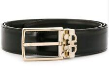 SALVATORE FERRAGAMO Double Gancini Reversible 67 A037 00 BLK Belt Size 105