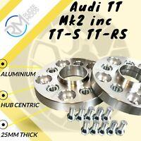 Audi TT Mk2 inc TT-S TT-RS 25mm Hubcentric Wheels Spacers 1 pair