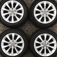"Set Genuine Audi A6 17"" Alloy Wheels SLine 10 spoke 4G Tyres Bridgestone 225 55"