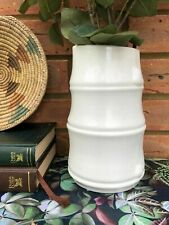 Boho Style White Ceramic Bamboo Vase Small Flower Bud Bottle Wedding Decoration