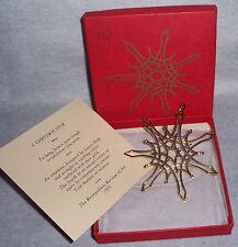 MMA 1975 Star Gold Vermeil Sterling Silver Metropolitan Museum Art Xmas Ornament