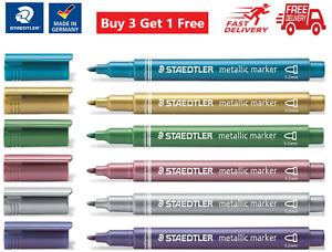 STAEDTLER Metallic Markers - Gold, Silver, Red, Violet, Blue - Buy 3 Get 1 Free