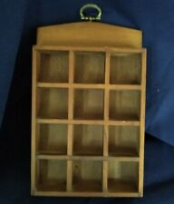 Vintage Thimble Display Case Wall Mounted