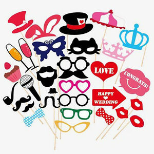 31Pcs Party Gifts Photo Booth Props Wedding
