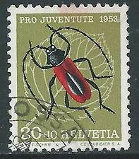 1953 SVIZZERA USATO PRO JUVENTUTE 30+10 CENT - Z22-4