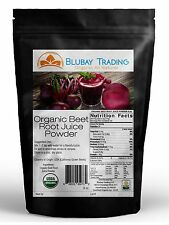 8 oz. ORGANIC BEET ROOT JUICE POWDER - GROWN & MADE IN USA - DISSOLVES IN WATER