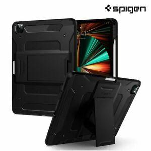 """For Apple iPad Pro 12.9"""" (2021) Case, Spigen Tough Armor Pro Cover - Black"""