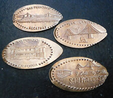 San Francisco,Ca. - Route 66 Gift Shop - Four Copper Elongated Pennies