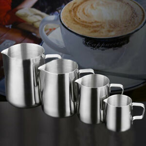Stainless Steel Milk Frothing Jug Frother Coffee Latte Container Pitcher Cup Mug