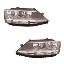For VW Jetta 5/2011 Headlights Headlamps Black Inner 1 Pair O/S & N/S
