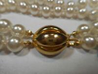 Blimp Clasp on Vintage 2 Strand 8mm White Majorca Pearl BRACELET Mint unused