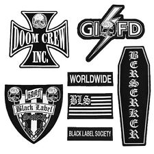 Black Label Society: Front Patch Set   New  Official