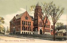High School Building, Bellow Falls, Vermont c1900s Vintage Postcard