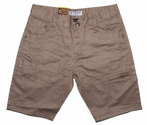 Mens Chisel Jeans Twill Denim Beige Denim Slim Leg Shorts CJ-2818SS Sale