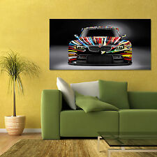 BMW M3 GT2 ART CAR 3 SERIES LE MANS EXOTIC CAR FRONT VIEW LARGE POSTER 24x48in