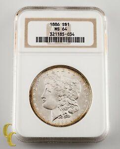 1886 $1 Silver Morgan Dollar NGC Graded MS 64