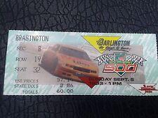 Nascar Darlington Raceway 1993 Southern 500 ticket stub Mark Martin Winner